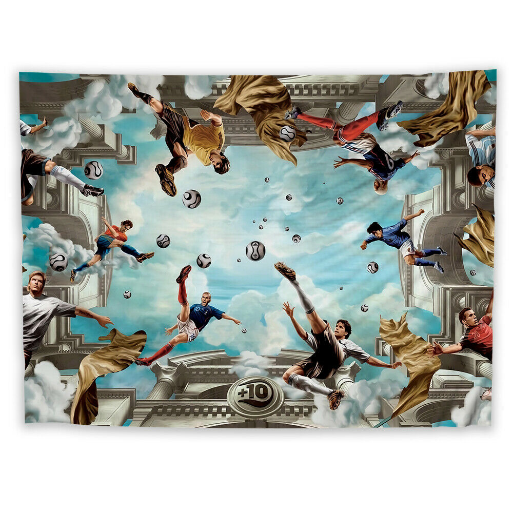 Football Sport Tapestry Art Wall Hanging Sofa Table Bed Cover Home Decor