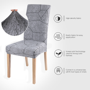 Strech Chair Cover Chair Cover 1/2/4/6pcs Removable Slipcovers -Dust Furniture Decor For Wedding Party image