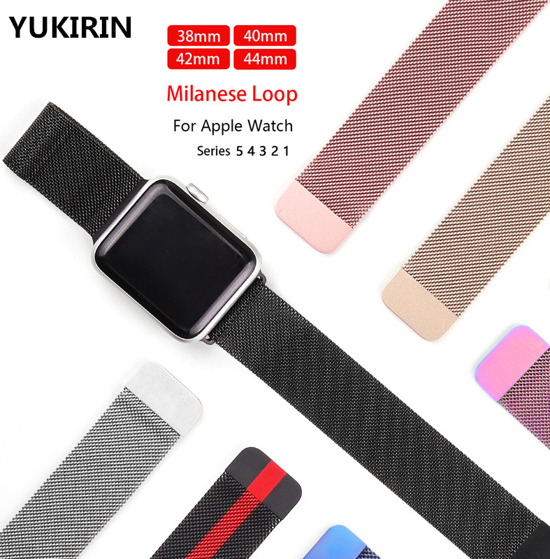 Milanese Loop Band For Apple Watch Strap 42mm 38mm Iwatch 5 4 3 2 1 Stainless Steel Bracelet Wrist Watchband Magnetic 40mm 44mm