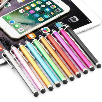 Wholesale 500pcs/lot Capacitive Screen Metal Stylus Touch Pen with Clip for Iphone 11 max X 8 7 5 6 /iPad/mini IPad/iPod Touch