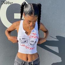 Nibber – débardeur sans manches pour femmes, Streetwear Chic, haut court et moulant, Harajuku, 2021