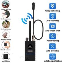 Yükseltme G328B RF sinyal dedektörü Wifi GPS Bug Mini Anti Spy gizli kamera dedektörü GSM takip cihazı GPS Radar radyo bulmak