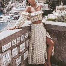 Conmoto Twist Off Shoulder Casual Women Dress Ruffle Beach S