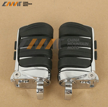 Chrome Switchblade Male Mount Foot Pegs For Harley Davidson 1984 2015 4445 New