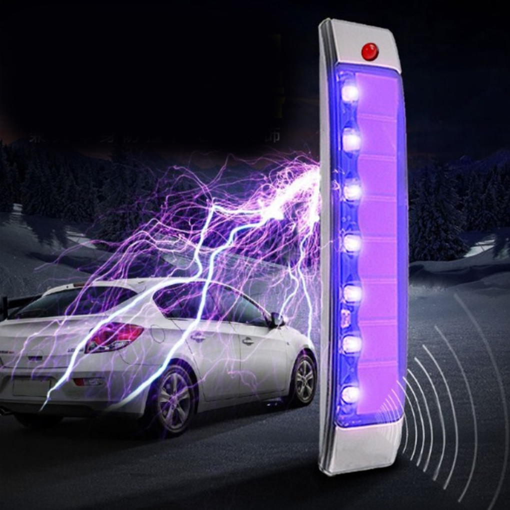 Car Door Anti-Static Solar Energy Protection Bumper Anti-Collision LED Crash Bar Decoration Light