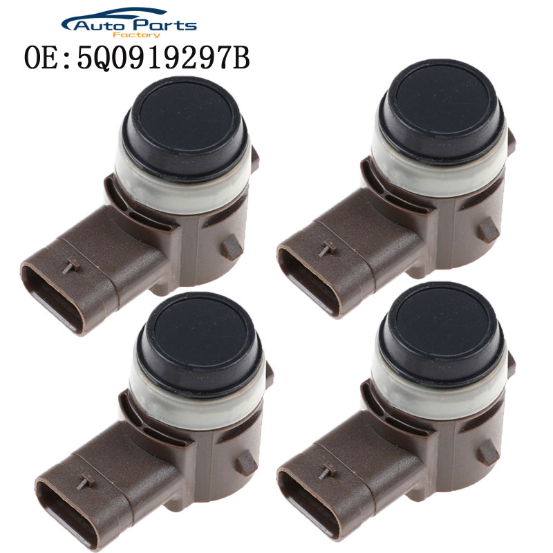 4PCS New PDC Parking Sensor For Various 2012-2018 Audi & VW Vehicles 5Q0919297B