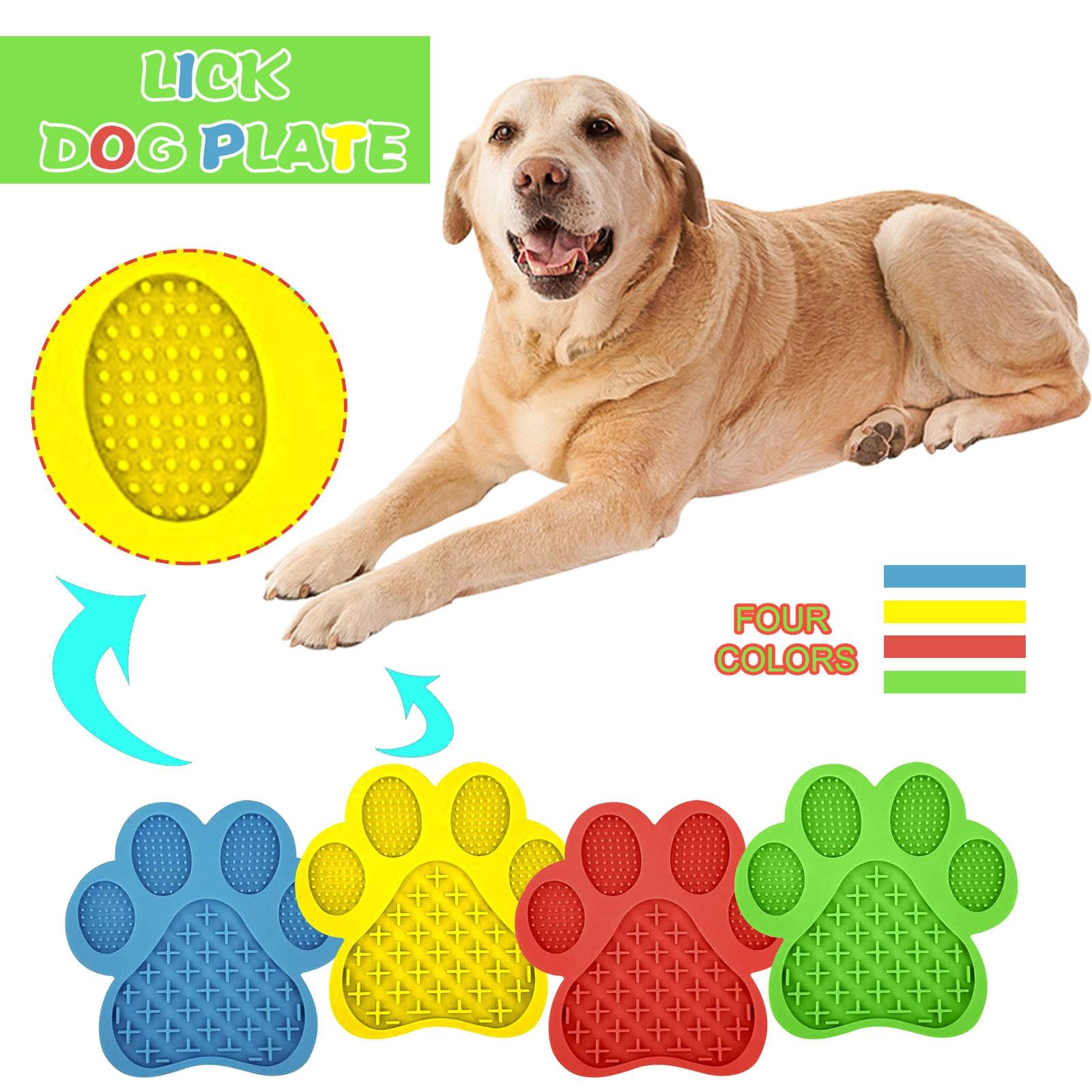 Lick Mat pour chien chat lavage dispositif de Distraction traitement lent tapis de distribution gamelle pour ingestion lente traiter tampon de distribution bol de nourriture