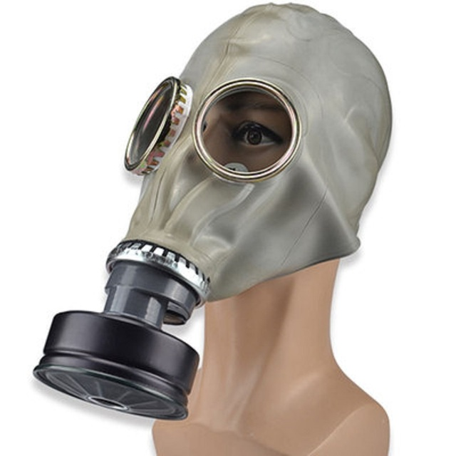 Russian Gas Mask Respirator Classic Style Military Edition Chemical Gases 360 Protection Industrial Spray Paint Toxic Dust Mask