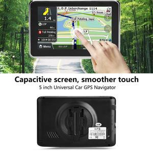 Image 4 - أداة ملاحة للسيارة مزودة بنظام تحديد المواقع DDR256M 8G MP3 FM خريطة أوروبا 508 ملحقات السيارة شاشة لمس 5 بوصة عالمية