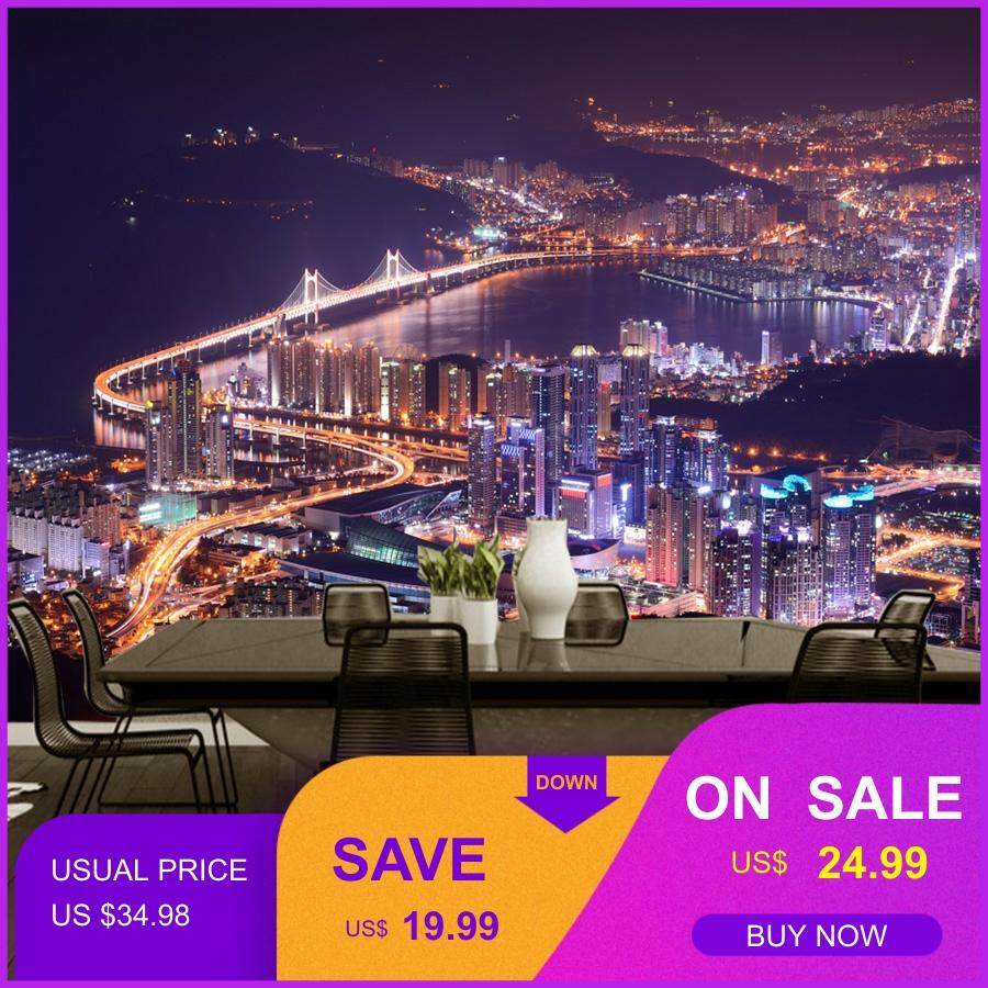 Photo Wallpaper Beauty City Night Scene 3D Wallpaper European Style Personalized Building Bar TV Sofa Office Wallpaper Mural