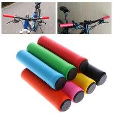 1 par de empuñaduras de la barra de la bicicleta empuñaduras para exteriores manillar antideslizante de silicona antideslizante amortiguador Super suave 9