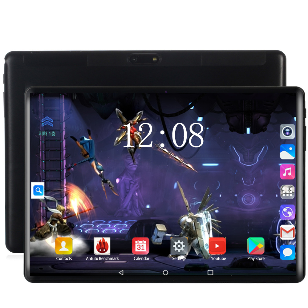 10.1 Inch 4G LTE Tablet PC Google Store Android 8.0 Octa Core 6GB+128GB 1280*800 IPS Dual SIM Card WIFI Smart Phone Tablets 10