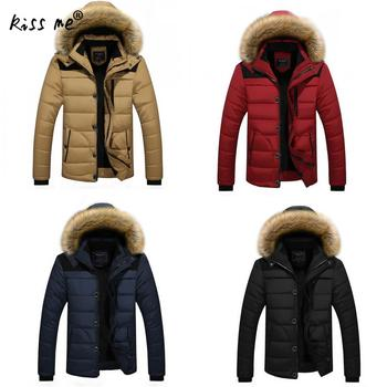 Winter Cotton Clothing Outdoor Down Jacket Men Warm Thermal Thicken Down Coat Windproof Casual Hooded Jacket Male Hiking Suit