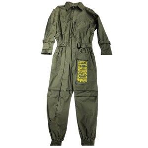Image 5 - Aelfric エデン 2020 ヒップホップストリートジャンプスーツ男性リボン刺繍カーゴパンツ長袖ロンパースジョギング techwear 男性