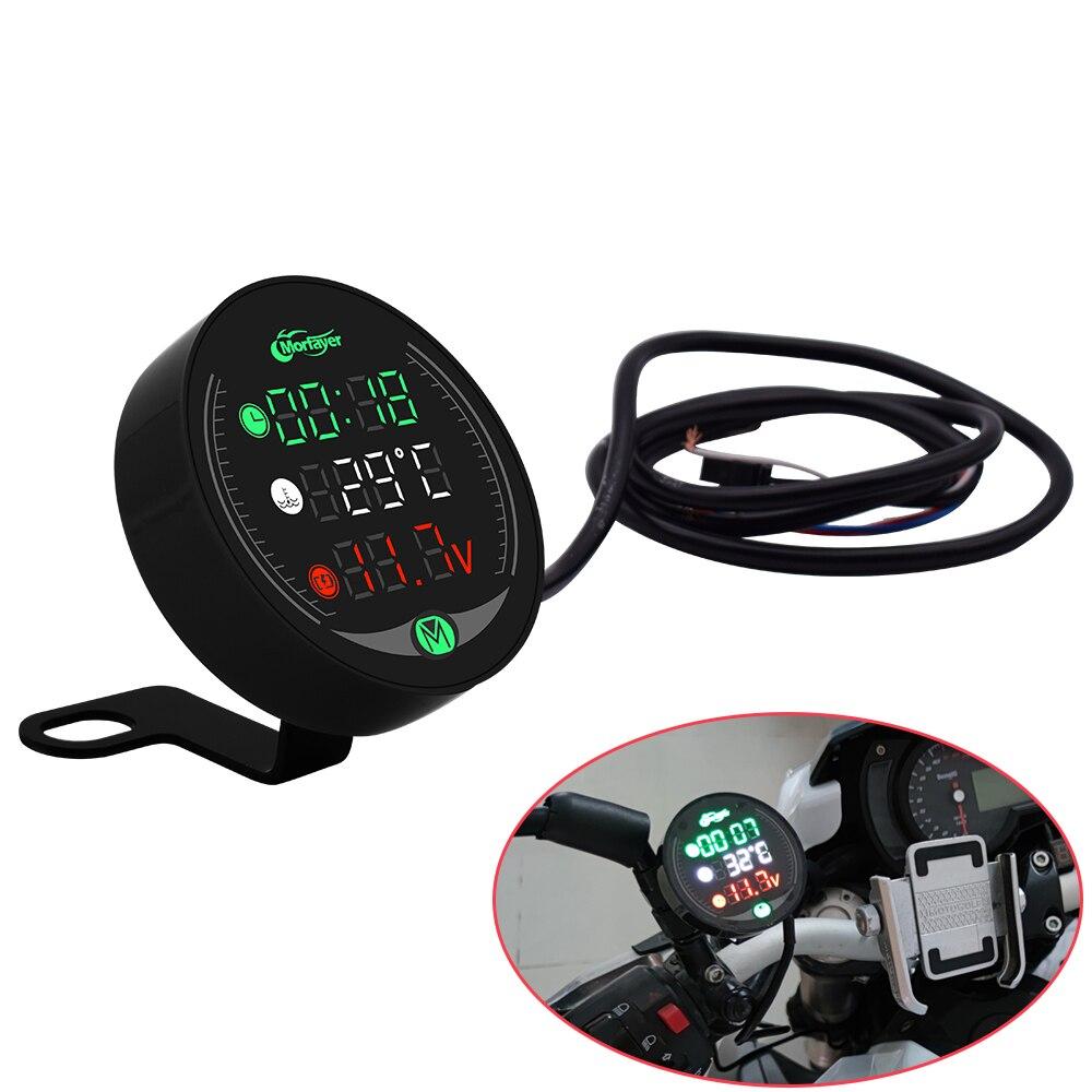 Indicador de pantalla de motocicleta voltímetro de agua reloj temporal carga de tiempo USB para KAWASAKI KX65 KX85 KX125 KX250 KX250F KX450F KX100