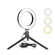 Светодиодный макияж свет вспышка для селфи световое кольцо туалетный столик led-подсветка маленького зеркала с регулируемой яркостью для телефона видео живой поток фото