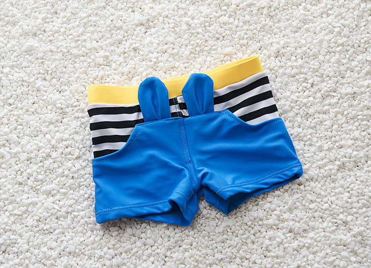 New Style CHILDREN'S Swimming Trunks Boxer Send Swimming Cap BOY'S Swimsuit BOY'S Swimming Trunks Genuine Product Cloth Fadeless