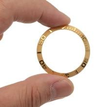 Novo ouro/branco relógios substituir acessórios 38mm assista face cerâmica moldura inserir para 40mm submariner automático relógio de homem capa