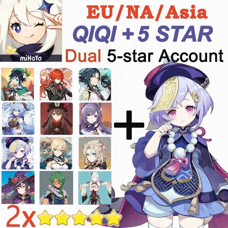 Европа/Америка/Азия QIQI двойной 5-звездочный путешественник с Genshin Impact Qiqi 5 звезда X2 аккаунт Hutao Xiao Venti джинс Мона разбавитель Keqing