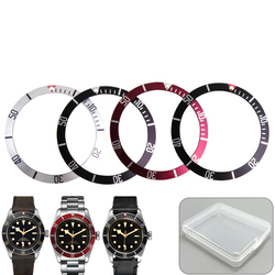 39.8mm Black Blue Red Silver Aluminum Bezel Insert For 41mm Dial for Black Bay Heritage Watch Face Watch Replacement Accessories