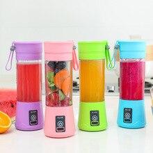 Hot 380ml Portable Juicer Mini Blender Electric USB Rechargeable Smoothie Blender Handheld Juicer Cup Blender Kitchen Mixer