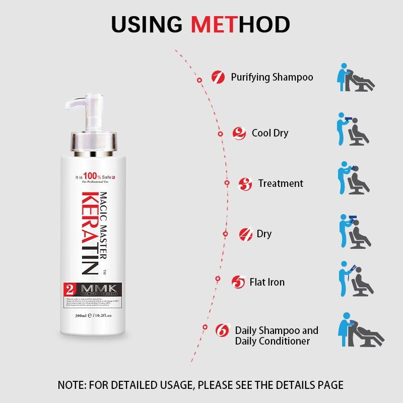 Купить с кэшбэком 300ML Nice Smelling Keratin Treatment Without Formalin Straighten Damaged Frizzy Hair
