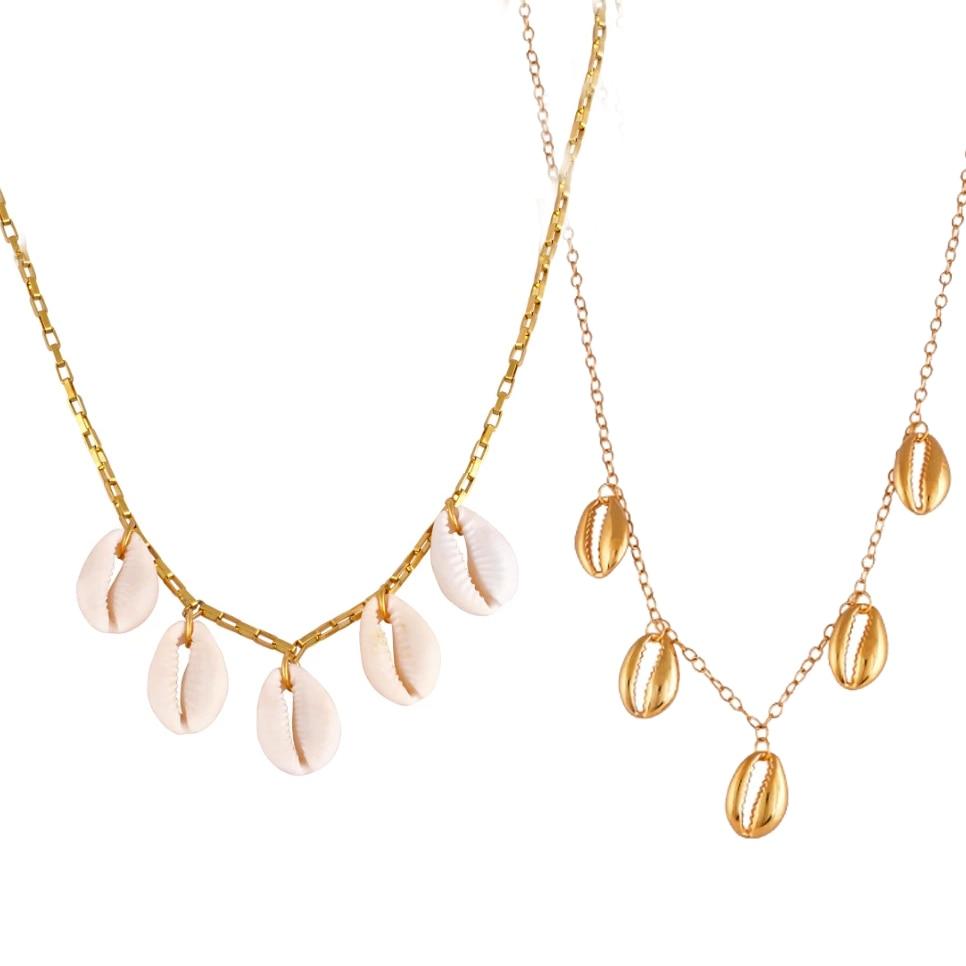 Stylish Beach Bohemian Sea Shell Pendant Chain Choker Necklace Jewelry WomenXS