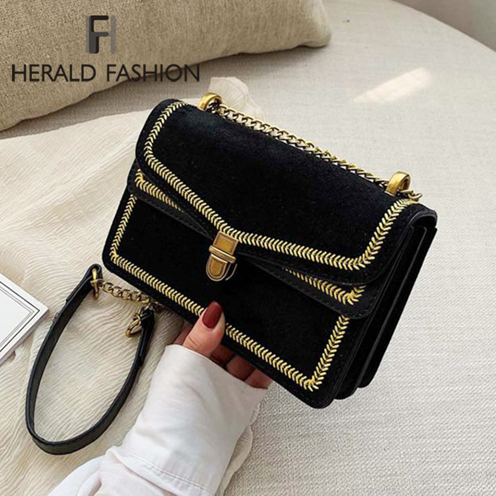 Scrub Leather Crossbody Bags For Women 2020 Fashion Chain Shoulder Messenger Bag Lady Travel Luxury Handbags And Purses