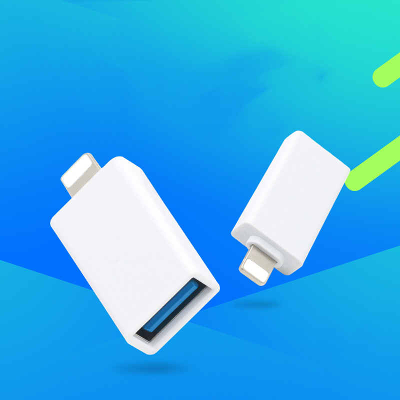 OTG USB To Lighting Adapter Charging Adapter Powering External Devices Charging Transmission Connector For Iphone