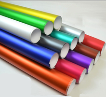цена на 8 Colors Red Blue Gold Green Purple Matte Satin Chrome Vinyl Wrap Film Sticker Decal Bubble Free Car Wrapping Film