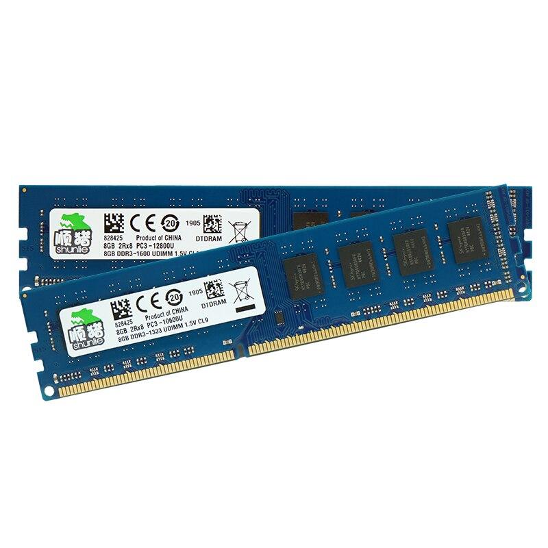 Chip Hynix DDR3 2GB GB 8 4GB 4G 8G 1066MHz 1333MHz 1600MHz DIMM de Memória Ram de Desktop 1.5V
