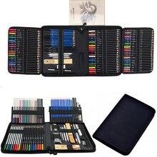 144PCS Color Pencil and Sketch Pencils Set for Drawing Art Tool Kit 72 Pcs Watercolor Metallic Oil Pencil Artist Art Supplies