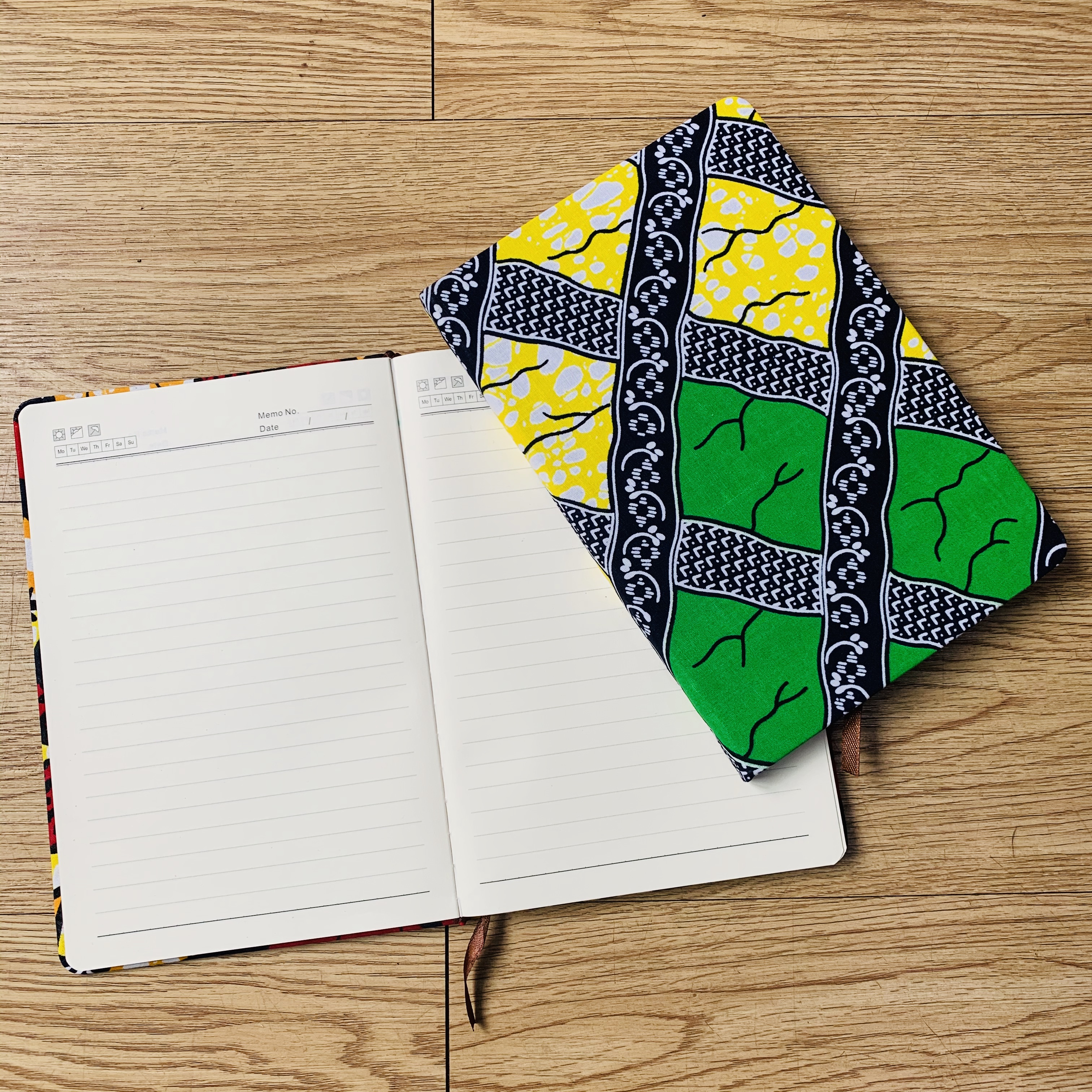 African Accessories Ankara Notebook Planner Agenda Diary Hard Cover Yearly Monthly Planning Papers Journal Notebook Daily Mem