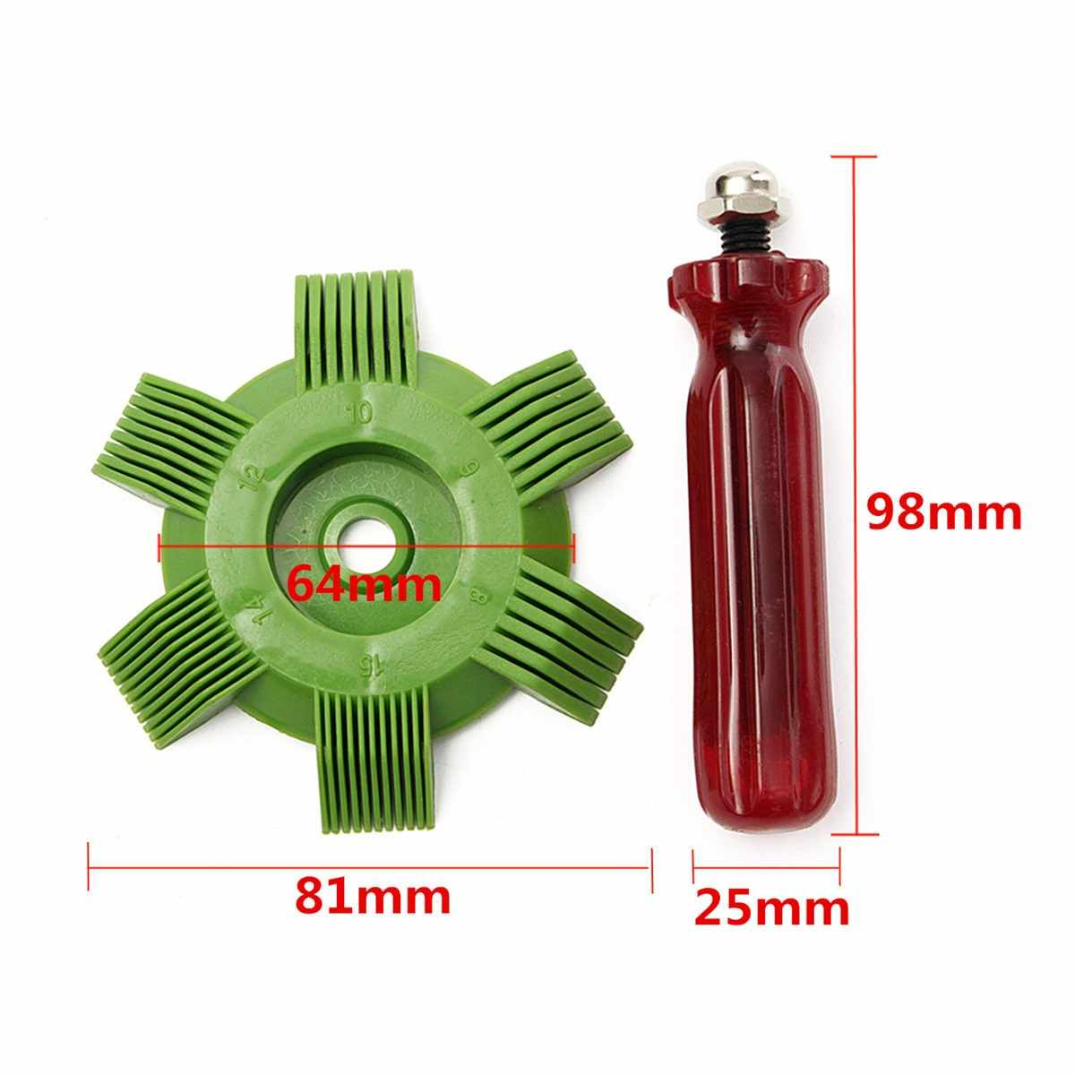 Universal Car A/C radiador aleta de condensación peine aire acondicionado bobina enderezadora herramienta de limpieza Auto sistema de refrigeración herramientas de reparación