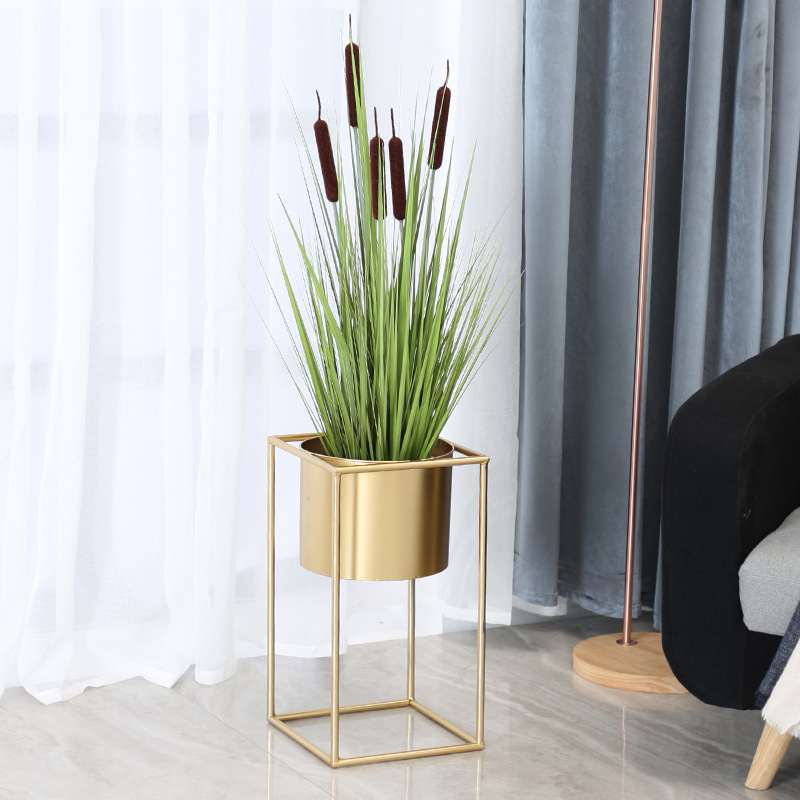 Nordic Simple Flower Stand Balcony Ground Multi-flesh Flower Box Flower Pot Living Room Iron Art Circular Flower Groove