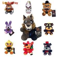 Nueva llegada cinco noches en Freddy FNAF juguetes de peluche 18cm Freddy oso de peluche Foxy Chica Bonnie juguetes de peluche muñeca regalos de los niños