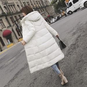 Image 5 - S 6XL jesienno zimowa damska Plus rozmiar moda bawełniane puchowe kurtki z kapturem długie parki ciepłe kurtki damskie zimowe ubrania
