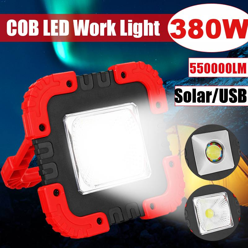 380W Protable Led Work Light COB Flood Light USB Rechargeable Portable Lanterns For Outdoor Camping Lamp Led Flashlight