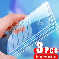 3 sztuk pełne szkło hartowane dla Xiaomi Redmi uwaga 9 8 7 6 Pro ochraniacz ekranu dla Poco X3 Nfc M3 M2 F2 Pro Mi 10T Pro szklana folia