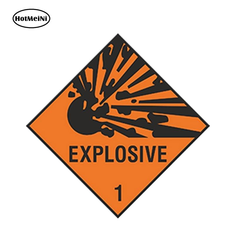HotMeiNi 13cm X 13cm Car Styling EXPLOSIVE Car Sticker Explosion Warning Danger For Laptop Tablet Door Waterproof Accessories