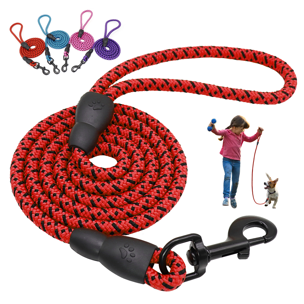 150cm Round Dog Leash Nylon Dogs Walking Lead Rope Pet Long Leashes Belt for Dog Outdoor