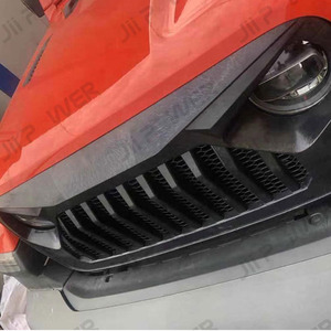 Image 3 - Car Styling Racing Grill For Jeep Wrangler JL 2018 2020 Front Mesh Race Mask Grills Modified Accessories