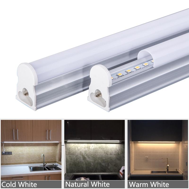 Whole Set Led Under Cabinet Light Cocina Wall Lamp Kitchen Lighting T5 Tube With EU Plug 29cm 57cm Leds Bar For Indoor Home 220V