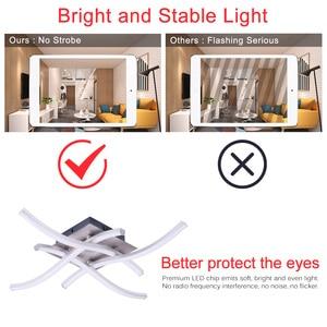 Image 4 - Luces de techo LED modernas, mando a distancia para sala de estar, dormitorio, lámpara tipo plafón de aluminio, 28W