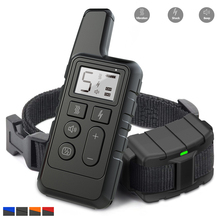 цены 500M electric dog training collar with remote beep vibration waterproof rechargeable Anti Bark electronic dog shock collar pet