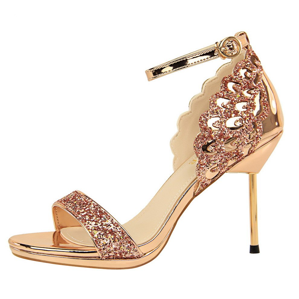 Summer <font><b>Sandals</b></font> <font><b>Women</b></font> <font><b>Sexy</b></font> Thin <font><b>High</b></font> <font><b>Heel</b></font> Female Fashion Bling Wedding Shoes Sandalia Feminina Open Toe <font><b>Women</b></font> <font><b>Sandals</b></font> Party <font><b>Pumps</b></font> image