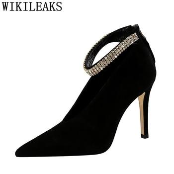 Tacones De diamantes De imitación Zapatos Mary Jane Zapatos De boda Zapatos...