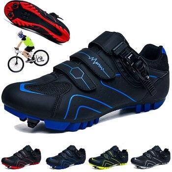 Men mountain bike ciclismo sapatos unisex esporte ao ar livre profissional tênis de estrada sapata mtb hombre auto-travamento 1