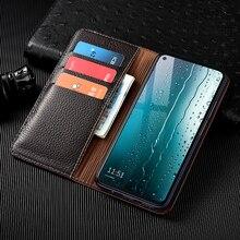 Litchi Patter Genuine Leather Magnetic Flip Cover For Samsung Galaxy A12 A32 A42 A52 A72 A02S A02 5G Case Luxury Wallet