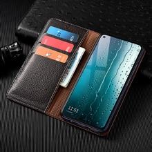 Litchi Patter Genuine Leather Magnetic Flip Cover For XiaoMi Poco F1 F2 M2 X2 X3 NFC C3 M2 M3 Pro Case Luxury Wallet